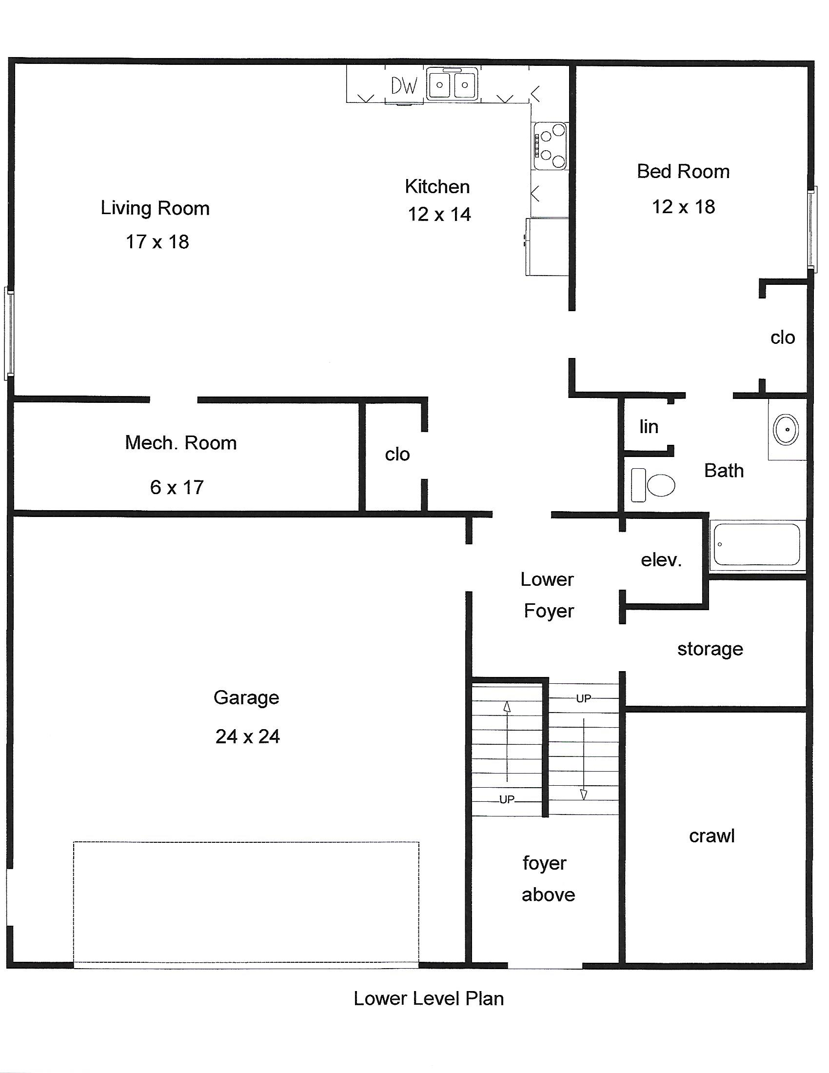 Ellicott Basement Floorplan